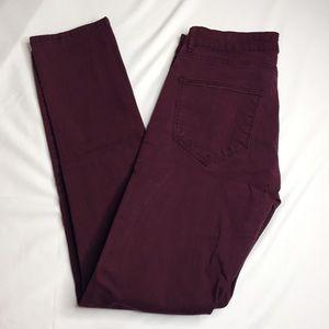 Zara Man Skinny Jeans 30 X 30 Plum